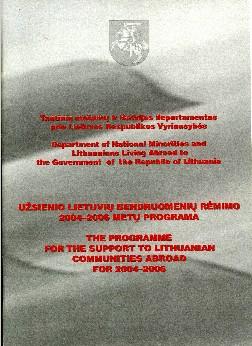 Užsienio lietuvių bendruomenių rėmimo 2004–2006 metų programa